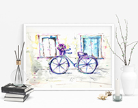 Watercolor, Bicycle