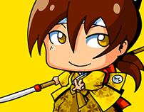 AnimeIowa 2013 Badge Illustrations