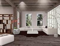 Living Room Design 3D