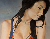 "Oil Painting ""Supergirl"""