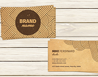 Vintage Artistic Business Card Template