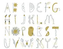 Milk X astrology alphabet
