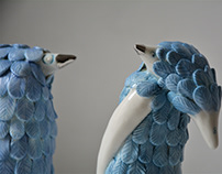 foxes in plumage