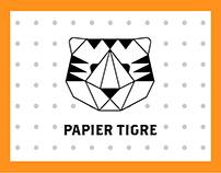 Maquette site web Papier Tigre