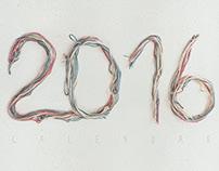 EMBROIDERED CALENDAR 2016