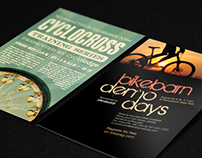 Bicycle Shop Event Flyers
