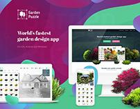 GardenPuzzle - UI, UX, logo
