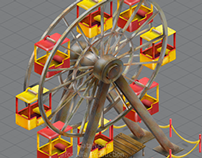 Ferris Wheel for game (izometric)