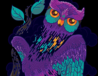 The owl - t-shirt design