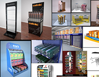 A small collection of my POP retail designs/ renders