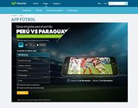 """Diseño web formulario """"APP fútbol"""" 2015"""