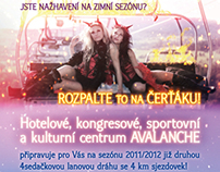 Flyer Čerťák - ski resort advertising