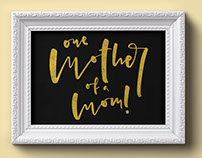 Free hand-lettered vector file for Mother's Day!