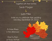 Sarah & Justin's Wedding Invitations