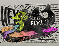 Hey you, let's fly! - Said the whale