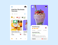 Find out the Drinks - Free template on figma