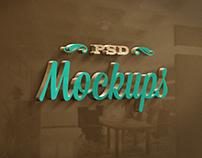 3D Awesome Logo Free Mockup