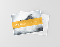 A6 Flyer / Postcard Mock-Ups