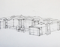 Architecture hand sketches