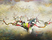Umbrella Tree on Canvas