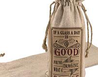 Typography Sample Wine Bag