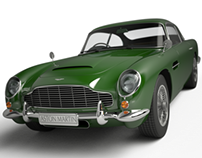 Aston Martin DB5, concept iRay render
