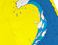 T-shirt - It's just a BIG Wave!