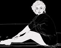 Marilyn on the pink sofa