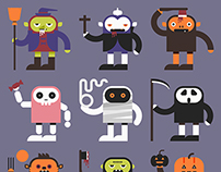 Stupid Face Halloween Characters