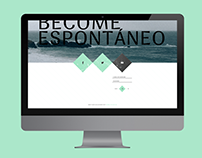 Espontáneo Magazine website