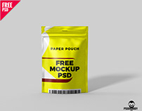 Paper Pouch Free Mockup PSD
