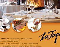 La Toque restaurant ad
