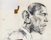 Title cover illustration - Obama vs. Romney