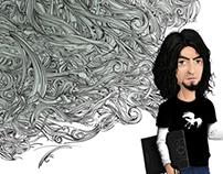 Autorretrato caricatura