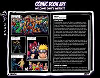 Comic book art webdesign 2008