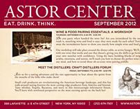 Astor Center Monthly Calendar Flyer