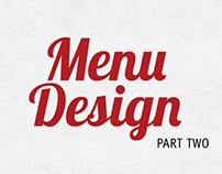 Menu Design 2 - Various