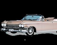 Ilustración Vectorial. Cadillac El Dorado 1959.