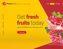 Fresco Store - Hero Header Template