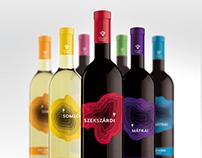 Wine labels design according to wine-growing regions
