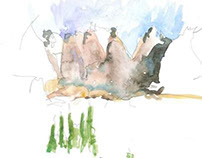 Sketches, Drawings and Watercolors from Colorado