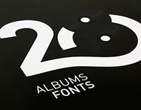 28 Albums Fonts