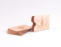 SAAT - wooden skat cardgame