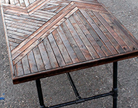 Hand Built Wooden Table