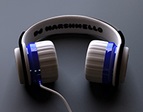 Headphone concept for DJ Marshmello