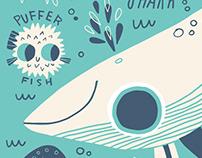 Sea Animal & Safari Animal Illustrations