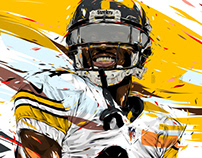 Adobe DRAW : NFL series - Antonio Brown 2
