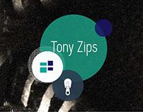 Tony Zips. (Ui/Ux | Branding)