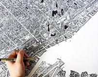 Toronto Ink Illustration