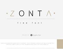 Zonta free Font
